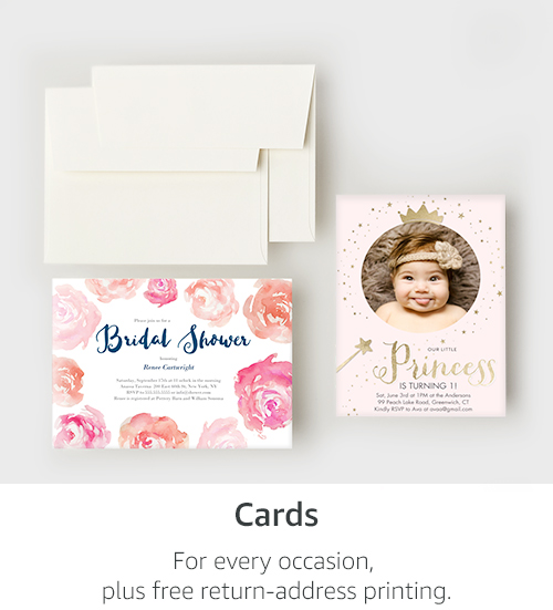 Cards | For every occasion, plus free return-address printing.