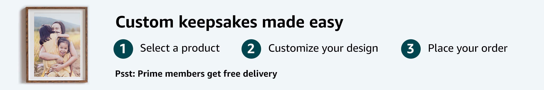 Custom keepsakes made easy
