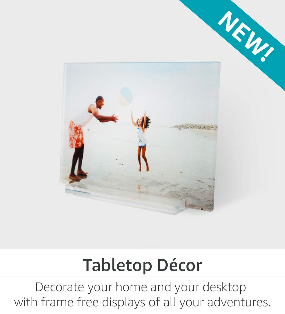 Tabletop Decor | Decorate your home and desktop with frame free displays of all your adventures.