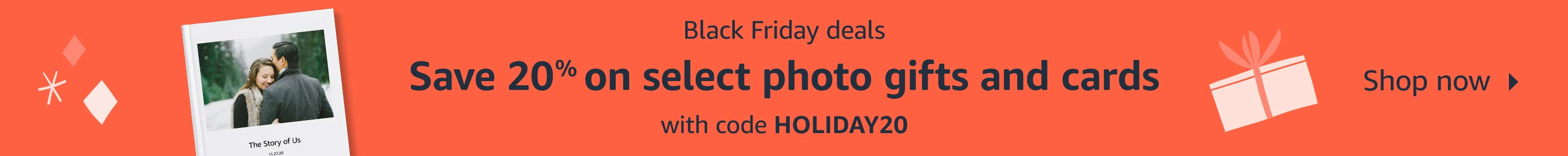 Save 20% on photo cards