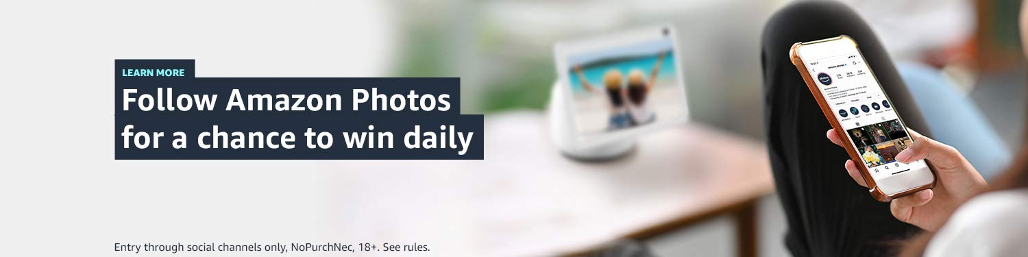 Follow Amazon Photos for a chance to win daily