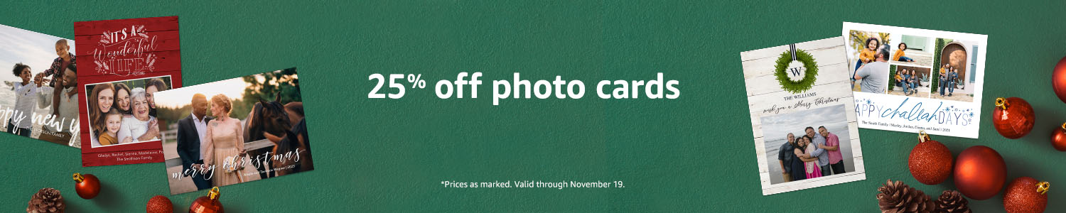 25% off photo cards