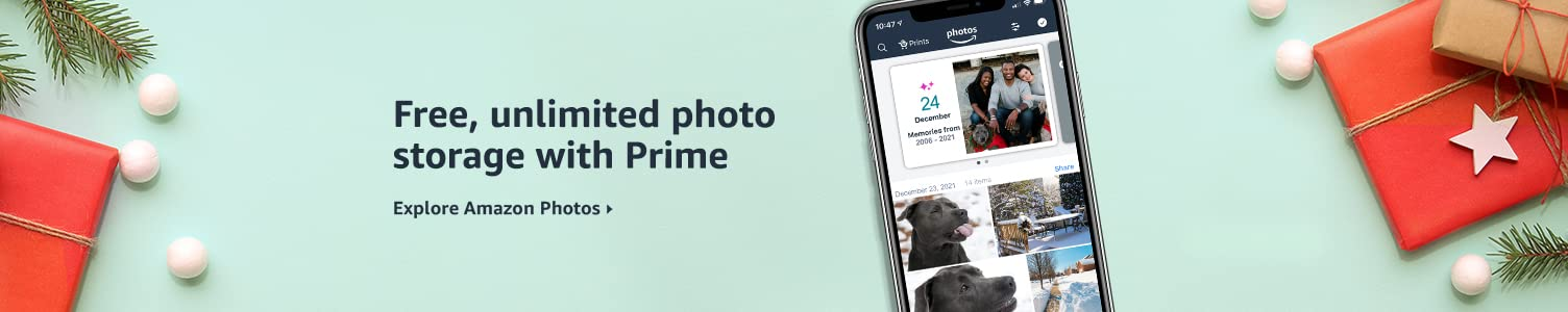 Free, unlimited photo storage with Prime