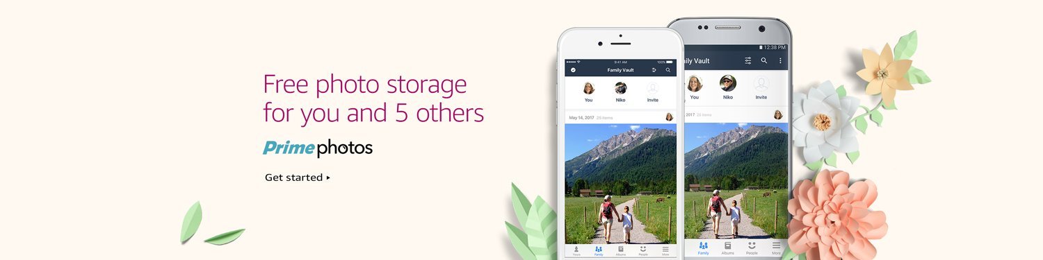 Free photo storage for you and 5 others with Prime Photos