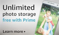 Unlimited photo storage, free with Prime. Learn more