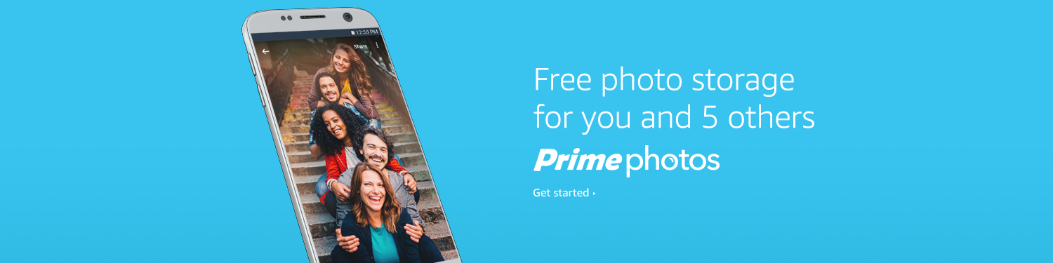 Free photo storage for you and 5 others. Prime Photos Get started