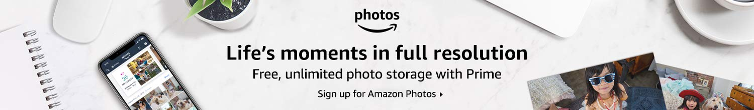 Memories Delivered. Sign up for Amazon Photos here.