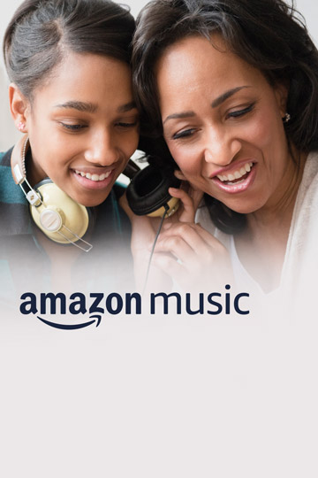 Amazon Music Unlimited Family plan. Up to 6 family members and devices, only $14.99/month. Unlimited streaming. Always ad-free.