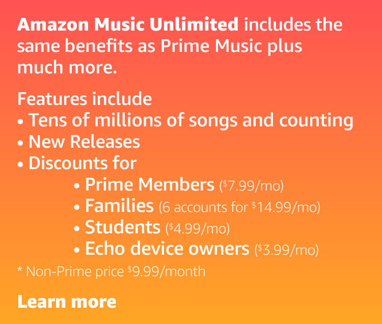 Music Unlimited includes the same features as Prime Music plus much more