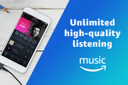 Unlimited high quality listening. Amazon Music Unlimited.
