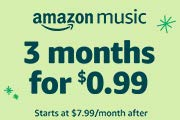 3 months for $0.99.