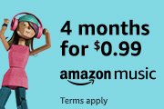 4 months of Amazon Music Unlimited for $0.99. Terms apply.