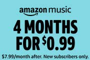 4 Months of Amazon Music for $0.99.
