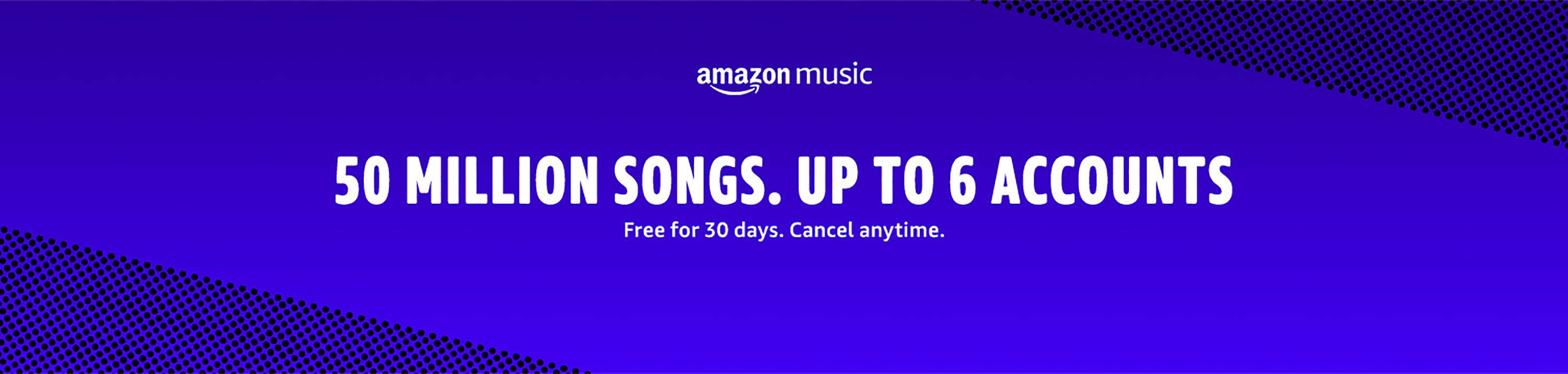Amazon Music Unlimited. Unlimited access to 50 million songs. Up to 6 lines.