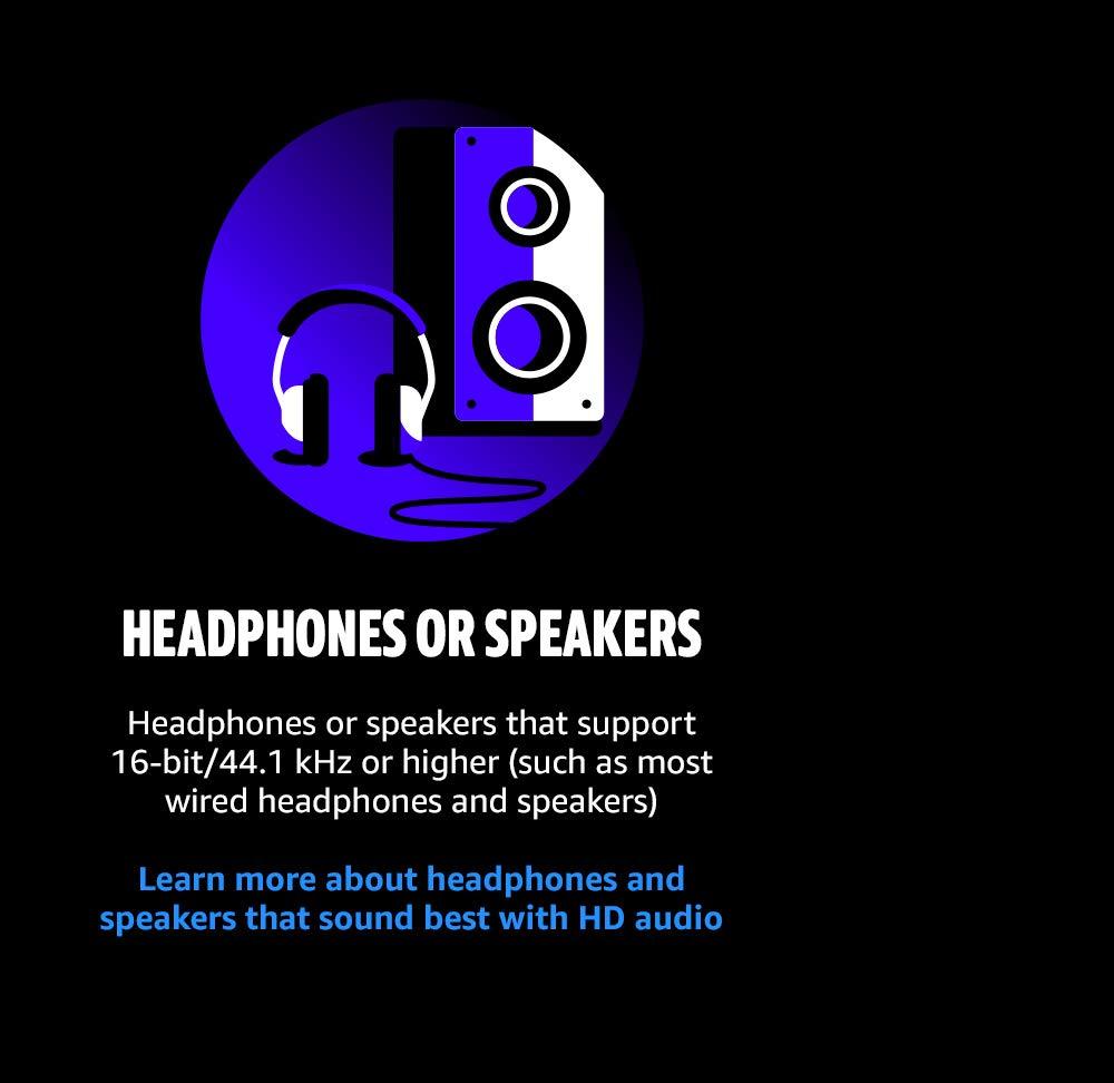 Headphones or speakers