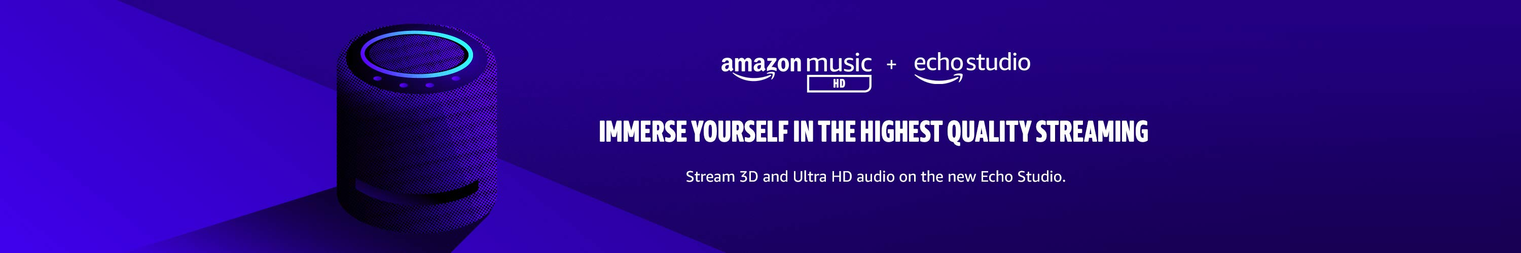 Stream 3D and Ultra HD on the new Echo Studio