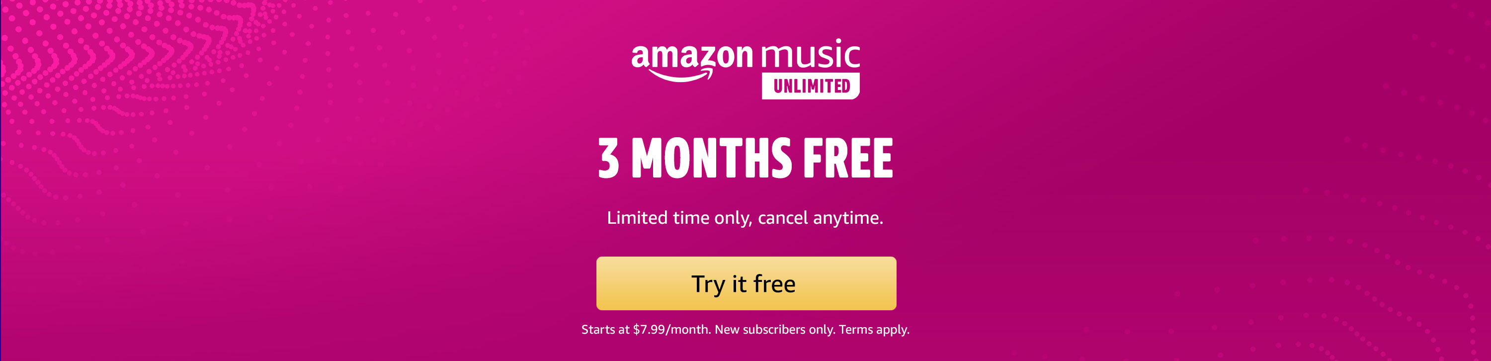Amazon Music Unlimited, Access to 60 Million Songs, listen to any song, anywhere, Try now