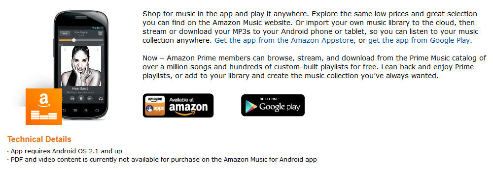 Is amazon music app free with prime