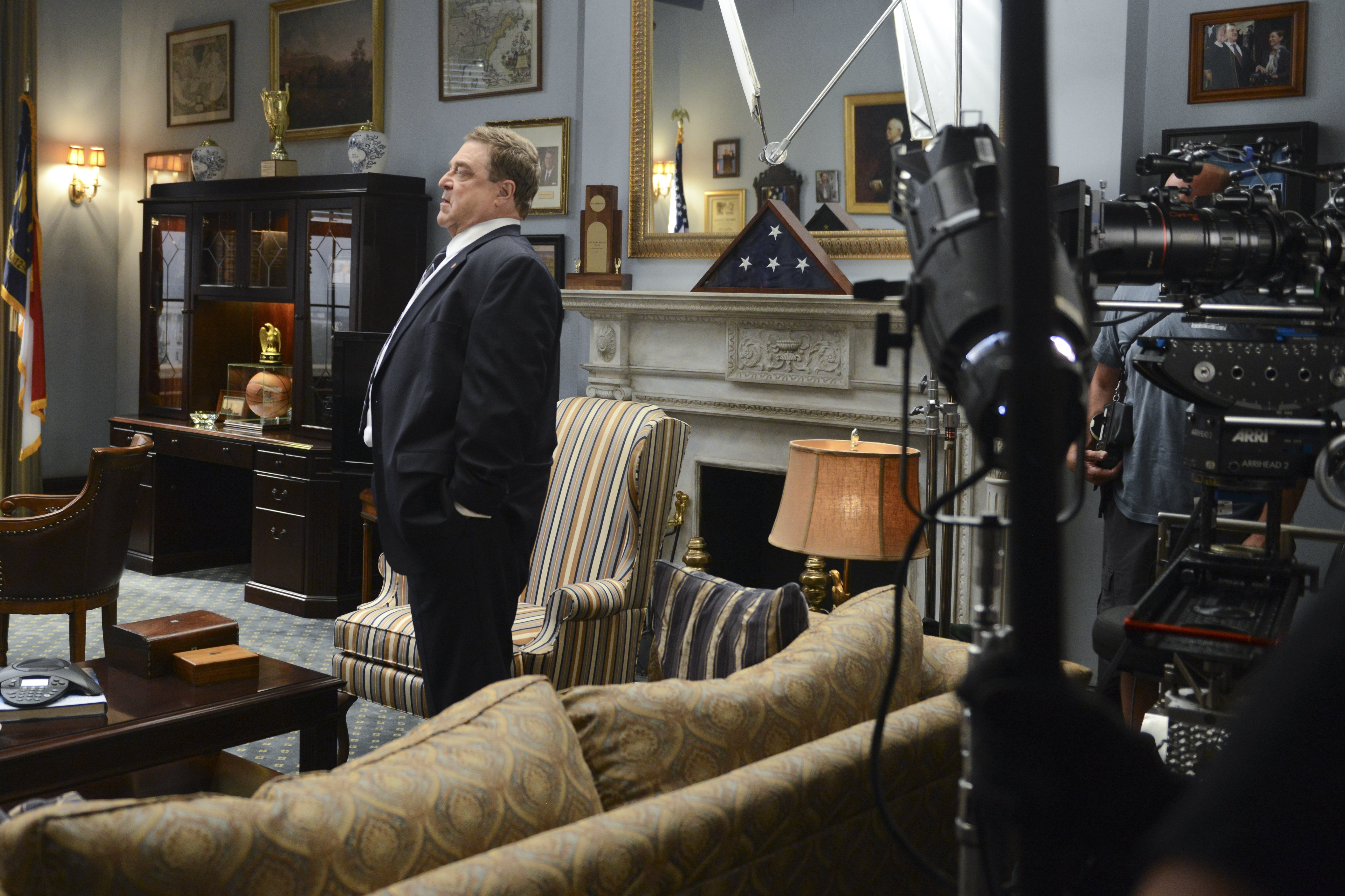 John Goodman on the set of Alpha House