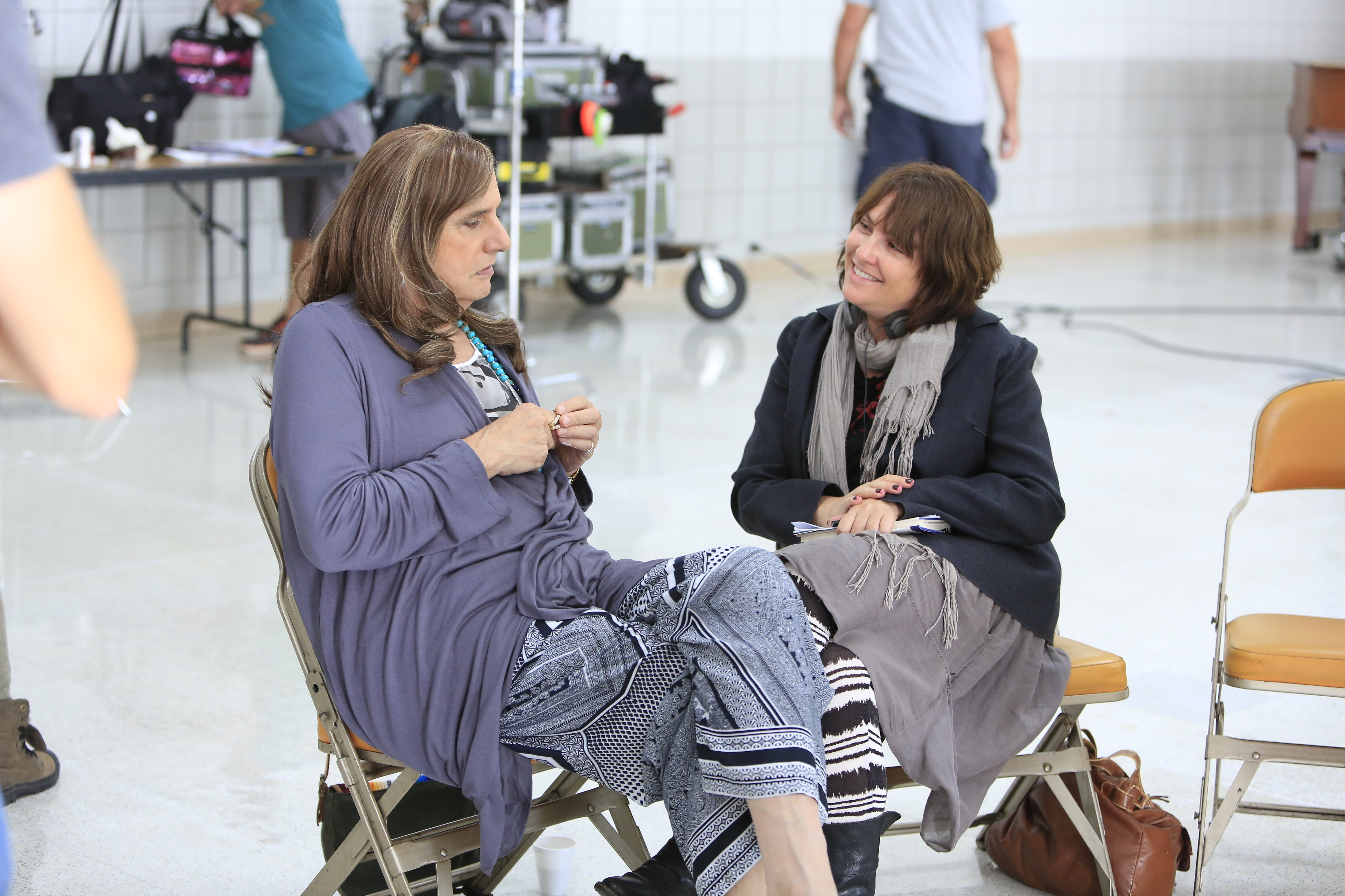 Actor Jeffrey Tambor and Writer/Director Jill Soloway on the set of Transparent