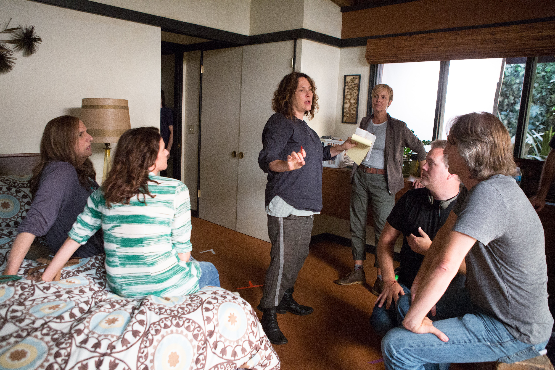 On set filming Transparent