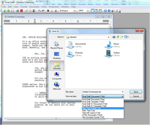 how to save a celtx file as a pdf
