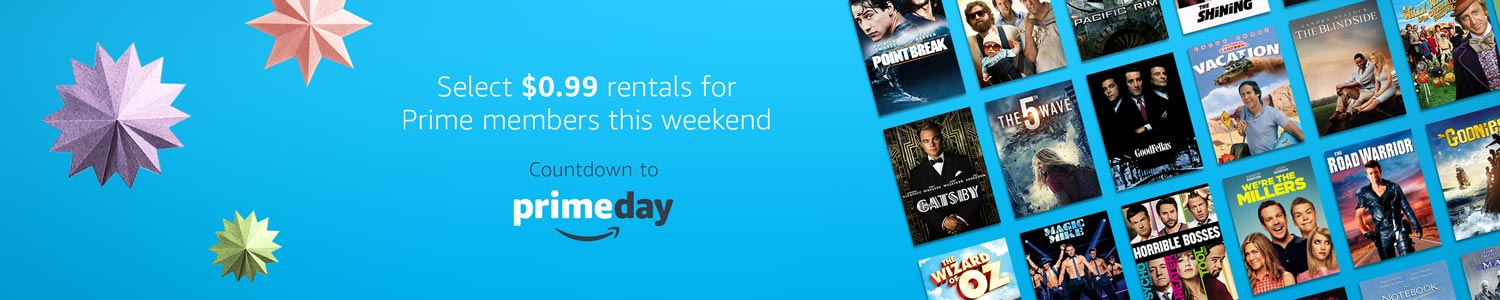 Select rentals $.99 for Prime members this weekend