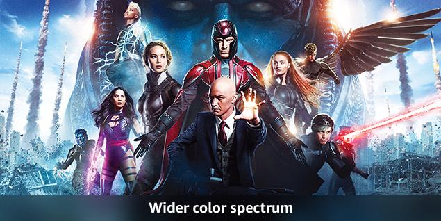 Wider Color Spectrum