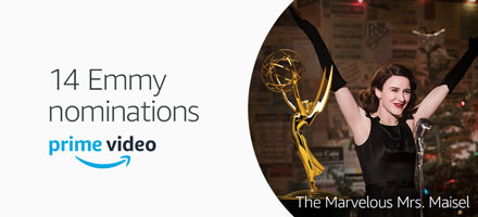 Prime Original The Marvelous Mrs. Maisel nominated for 14 Emmy Awards, including Outstanding Comedy Series