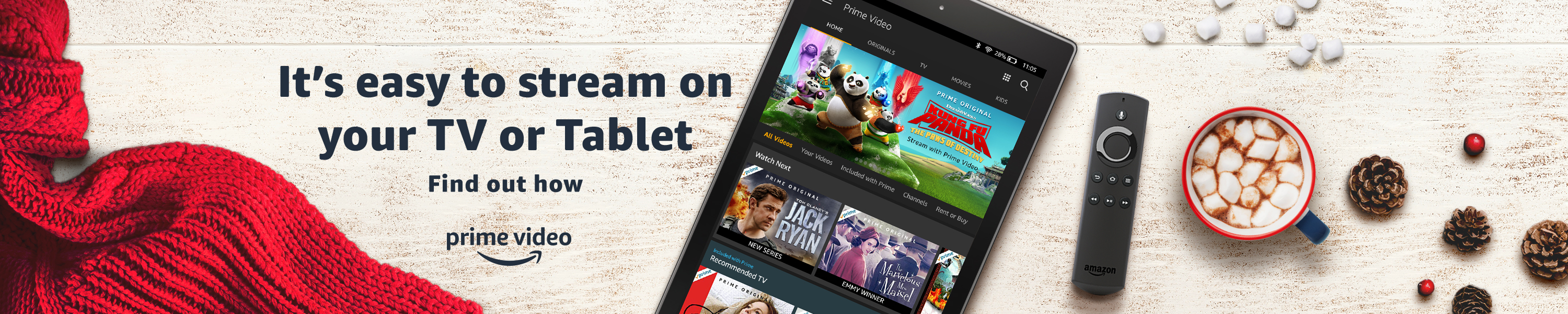 It's easy to stream on your TV or Tablet. Find out how.