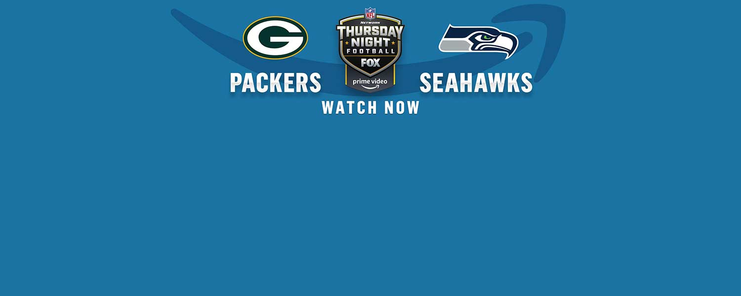 Watch Thursday Night Football on Prime Video, where the Green Bay Packers play the Seattle Seahawks, live now