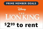 $2.99 to rent The Lion King on Prime Video