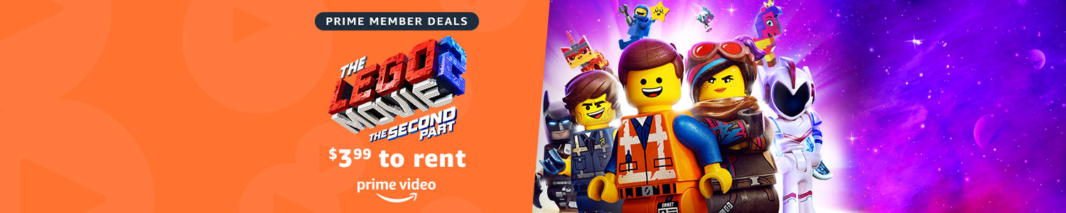 Prime Member Deals. The Lego Movie 2. $3.99 to rent on Prime Video.
