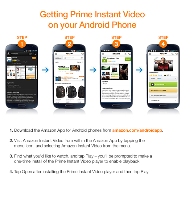 Amazon com: Prime Instant Video on Android Phone: Prime Video