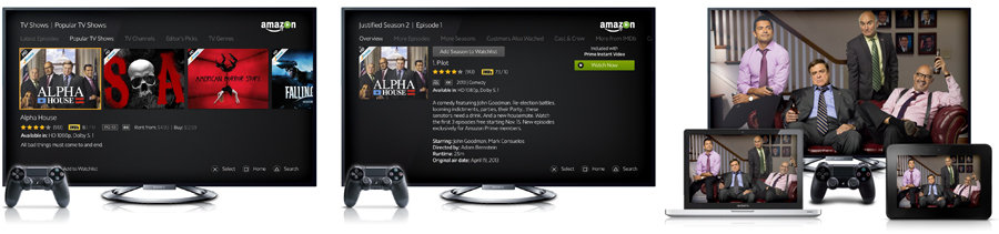 Amazon Instant Video on PlayStation 4