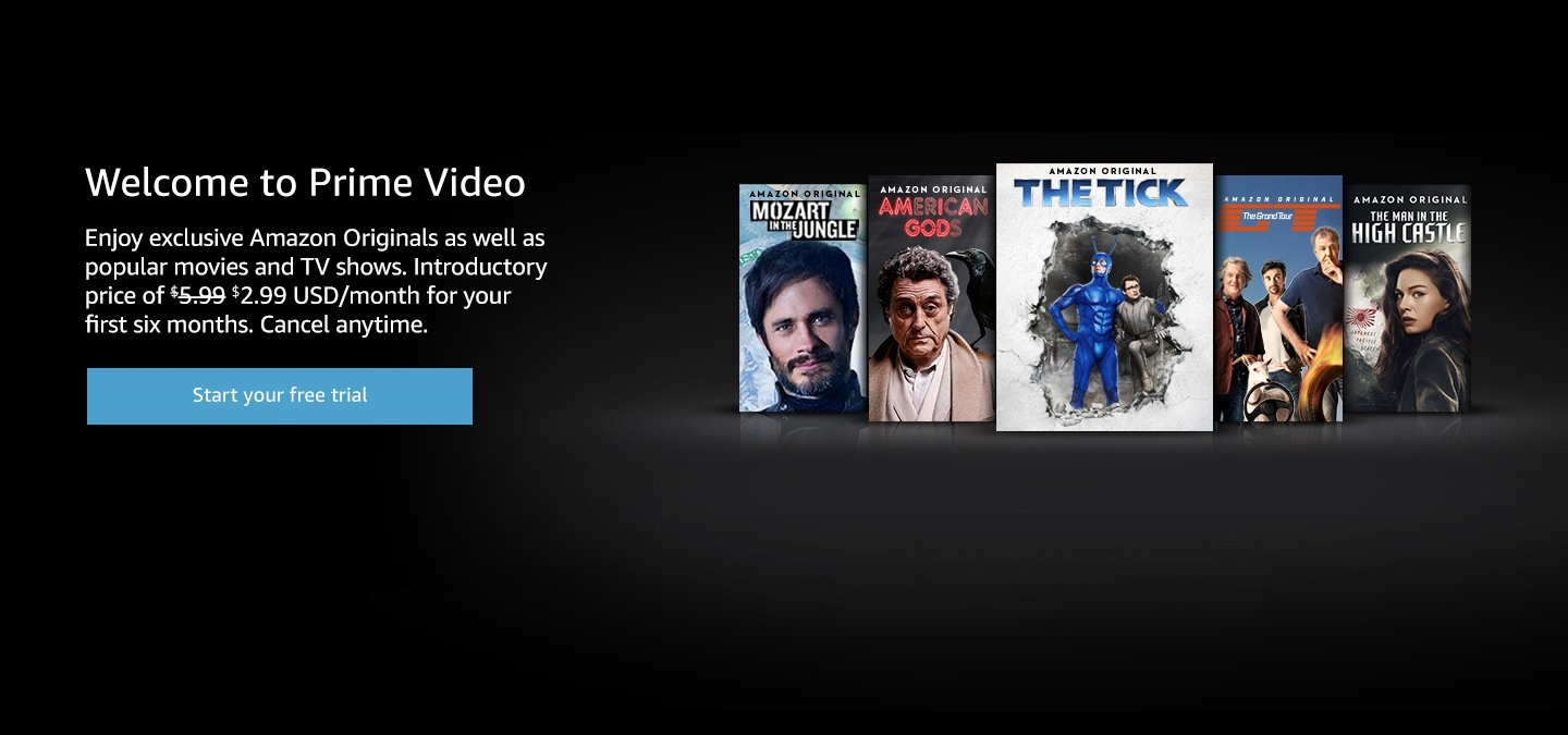 amazon Prime video example