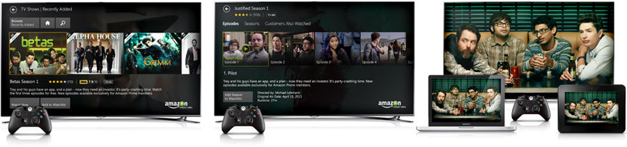 how to watch amazon prime on xbox one