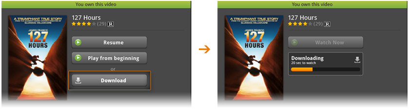 Picture of where to find the Download button