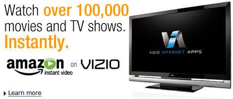 vizio tv amazon. amazon instant video on vizio vizio tv