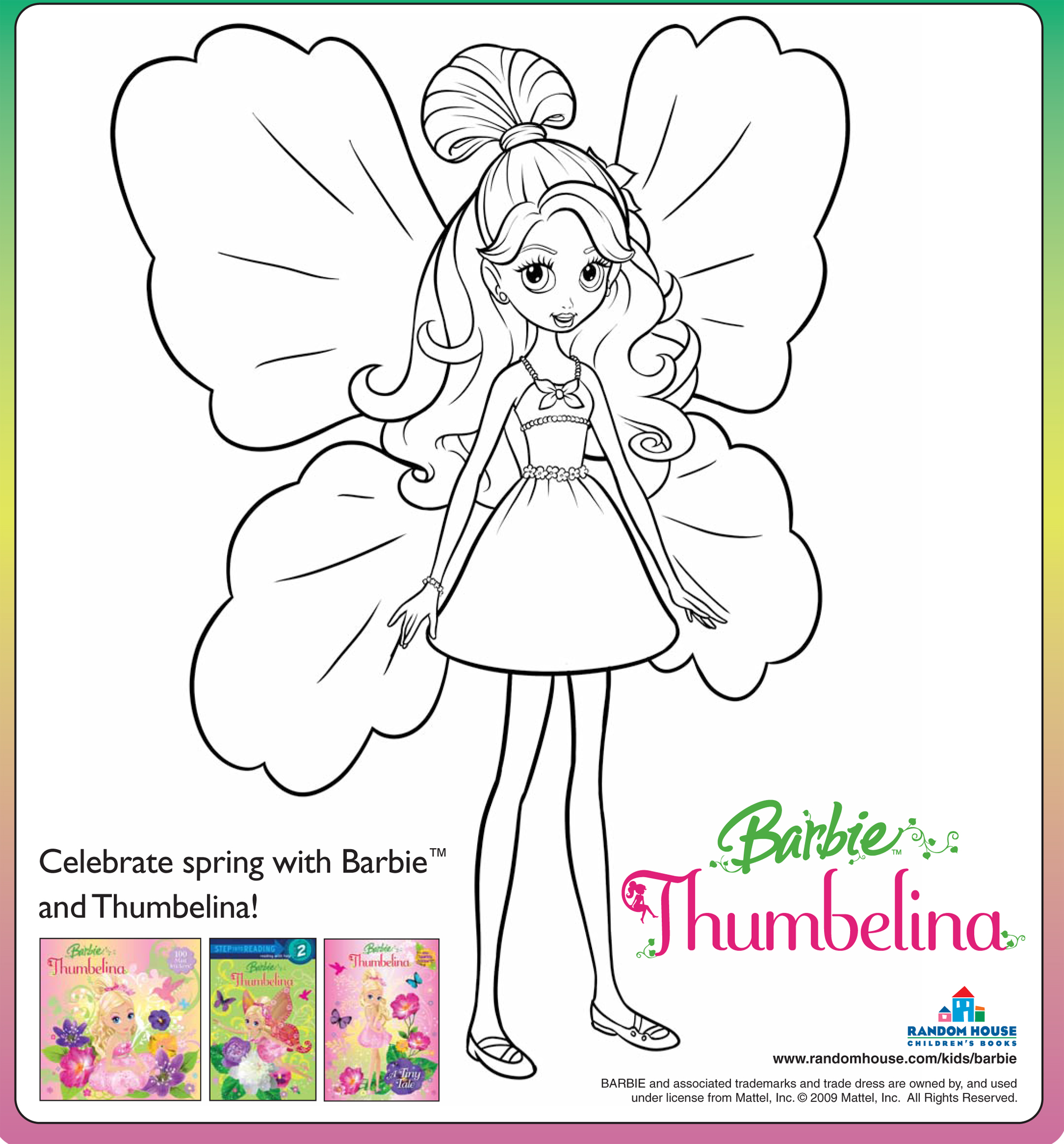 Barbie Thumbelina Free Coloring