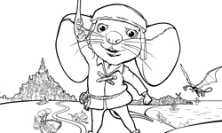 tale of desperoux coloring pages - photo#8
