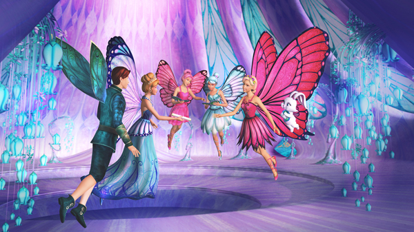 Stills From Barbie Mariposa Click For Larger Image