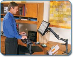 Amazoncom 3M Desk Mount EasyAdjust Monitor Arm MA200MB