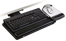 3M AKT80LE Knob-Adjust Keyboard Tray