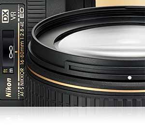 Nikon photo of parts of the AF-S DX NIKKOR 16-80mm f/2.8-4E ED VR lens