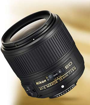 Product photo of the Nikon AF-S NIKKOR 35mm f/1.8G ED lens