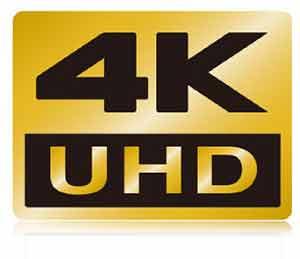 4K UHD logo showcasing video capabilities