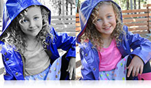 Selective color example of a girl shot with the Nikon 1 AW1