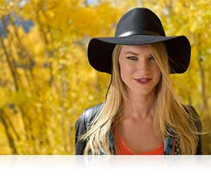 Nikon D5500 photo of a blonde woman highlighting stunning detail