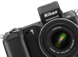 photo of the Nikon 1 V2 interchangeable lens digital camera